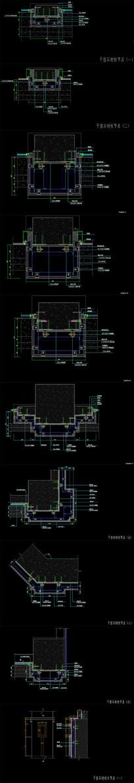 CAD干挂石材柱节点