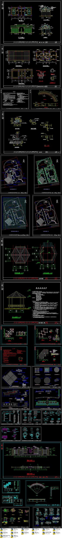CAD老年活动中心全套施工图