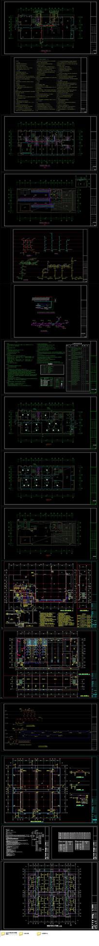 CAD数据中心水暖专业全套设计施工图