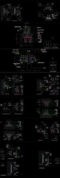 CAD推拉门节点图