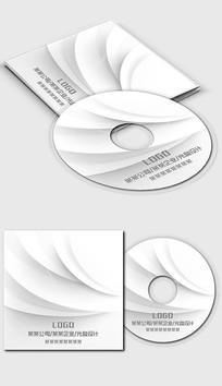 白色简洁简约光盘封面设计 PSD