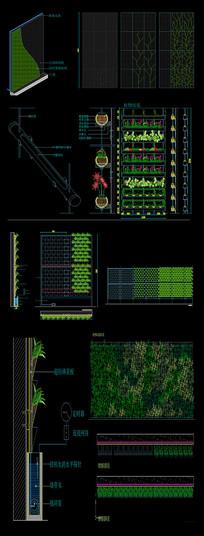 cad植物墙施工图