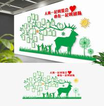 创意个性员工风采文化墙大树文化墙