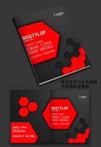 大气红色科技封面设计