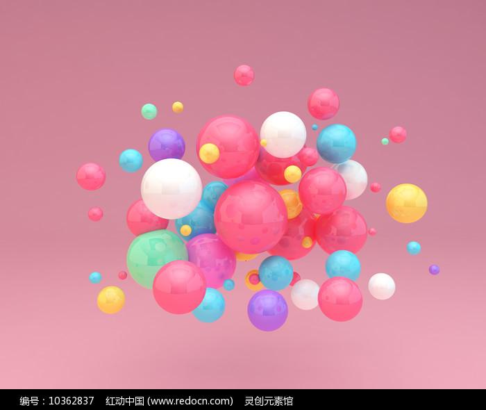 儿童节彩色海洋球气球元素图片