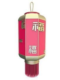 红色福字灯笼