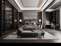 后现代风格  卧室