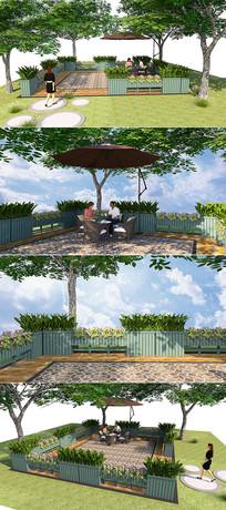 户外花箱围栏咖啡厅