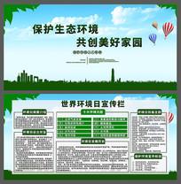 简约风世界环境日宣传展板