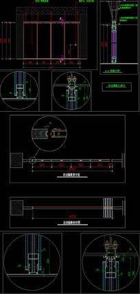 精品折叠门cad节点详图