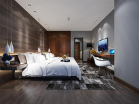酒店客房3D模型图下载