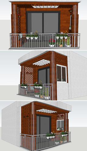 欧式花园阳台