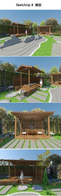 日式温泉庭院