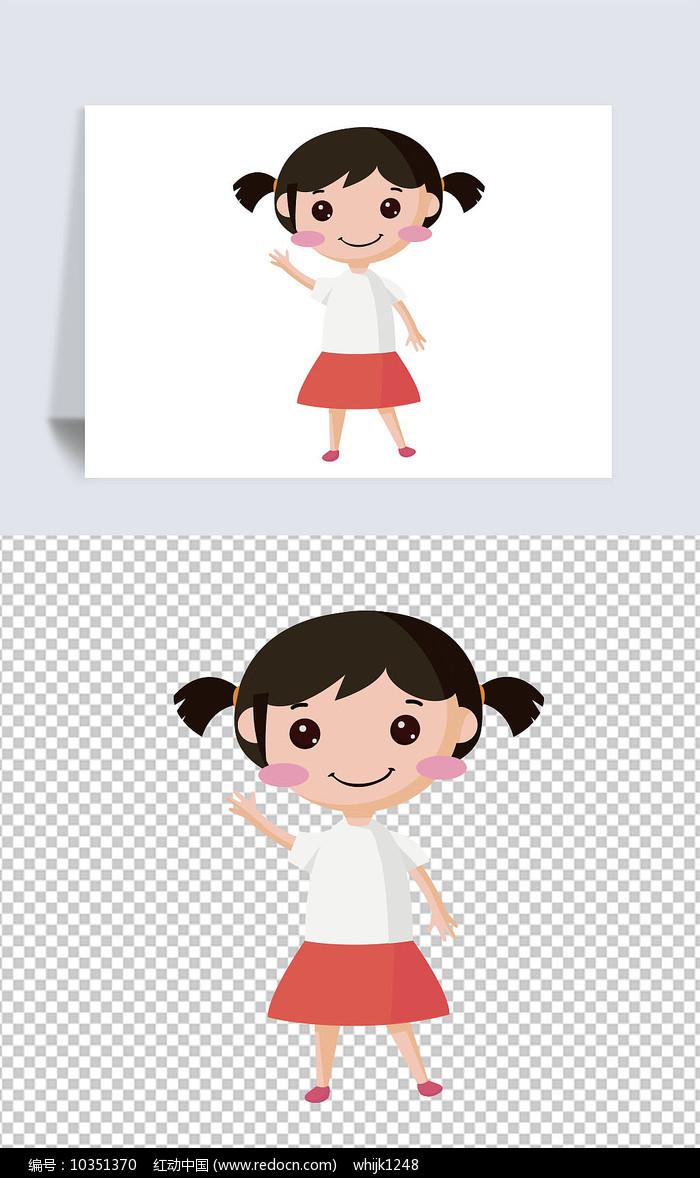 矢量卡通女童图片