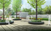 小游园树池广场景观效果图