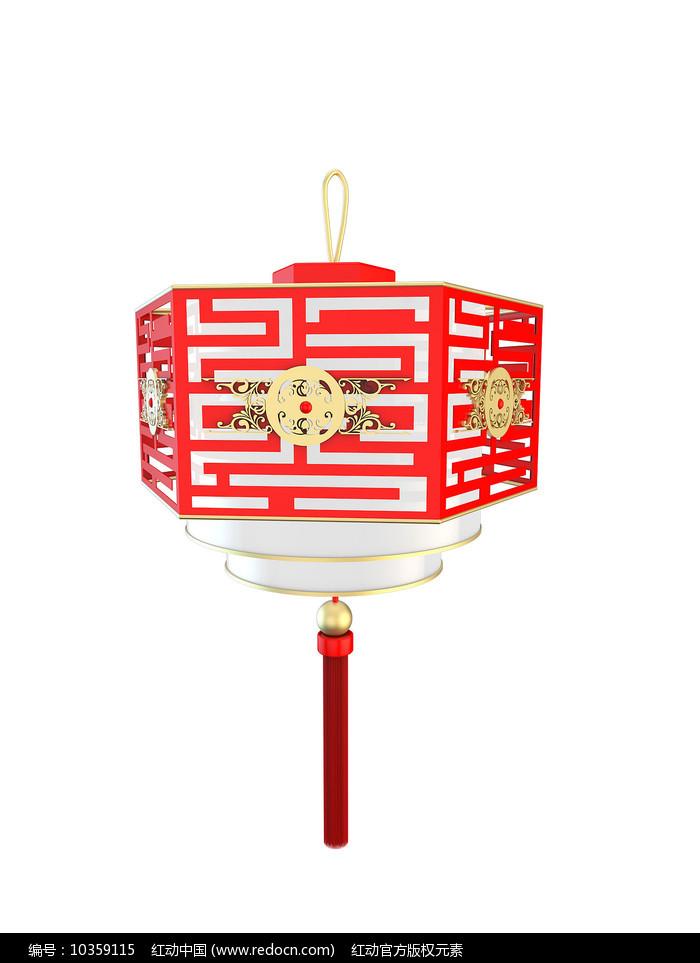 新年镂空红色灯笼