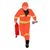 原创安全生产消防员关注消防灭火器元素
