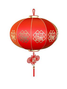 中国福字新年创意灯笼