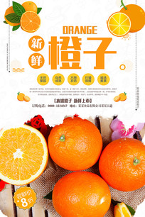 橙子水果海报