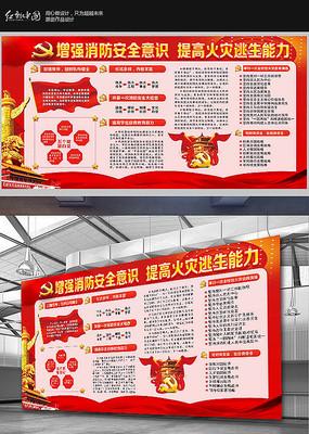 大气消防安全知识宣传栏展板