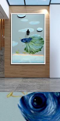 飞鱼玄关装饰画