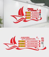 红船精神党建室文化墙