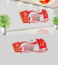 红船精神党建文化墙
