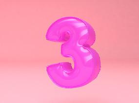 气球立体字可爱字体元素