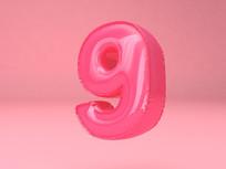 气球字周年庆字体元素