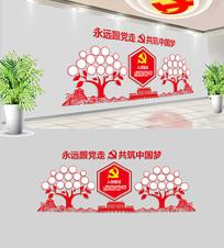 社区党建照片树照片墙设计