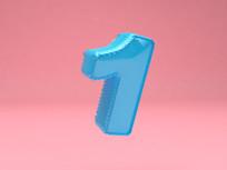 周年庆立体字气球字体