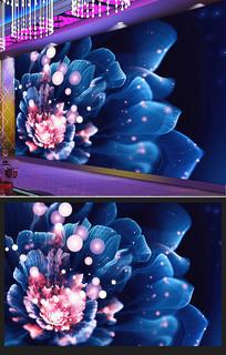 花朵艺术分形酒吧酒店大堂前台工装