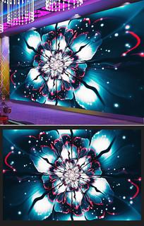 通用时尚炫彩分形花朵酒吧KTV背景墙