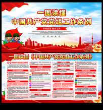 一图读懂中国共产党党组工作条例展板