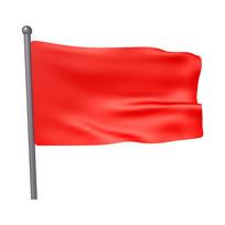 黨建愛國紅旗元素