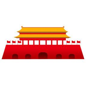 类似北京天安门建筑元素