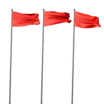 飘扬红旗党建元素