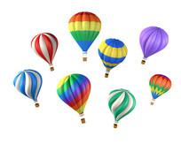 热气球天空漂浮元素