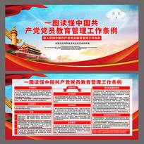 中国共产党党员教育管理工作条例展板设计
