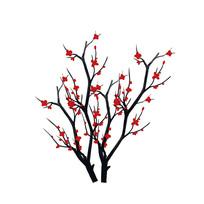 梅花花枝花卉