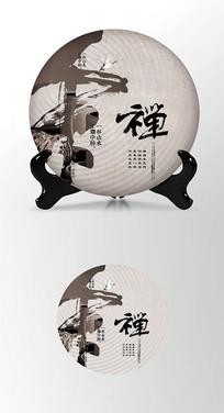 磅礴大气茶叶棉纸茶饼包装设计