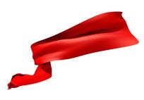 飞扬红丝带喜庆红绸带