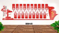 共产党的发展历程党建文化墙