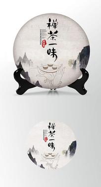 观音茶叶棉纸茶饼包装设计