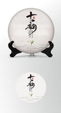 古韵茶叶棉纸茶饼包装设计PS