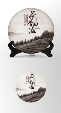 简约高端大气茶叶棉纸茶饼包装设计