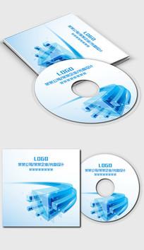蓝色科技数码IT行业光盘封面设计