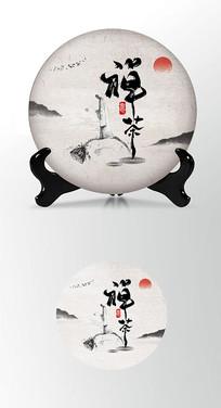 李白杜甫诗圣诗仙茶饼棉纸图案包装设计