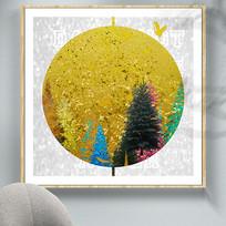 色彩新中式创意油画