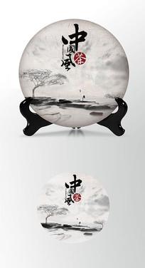 仙鹤茶叶棉纸茶饼包装设计